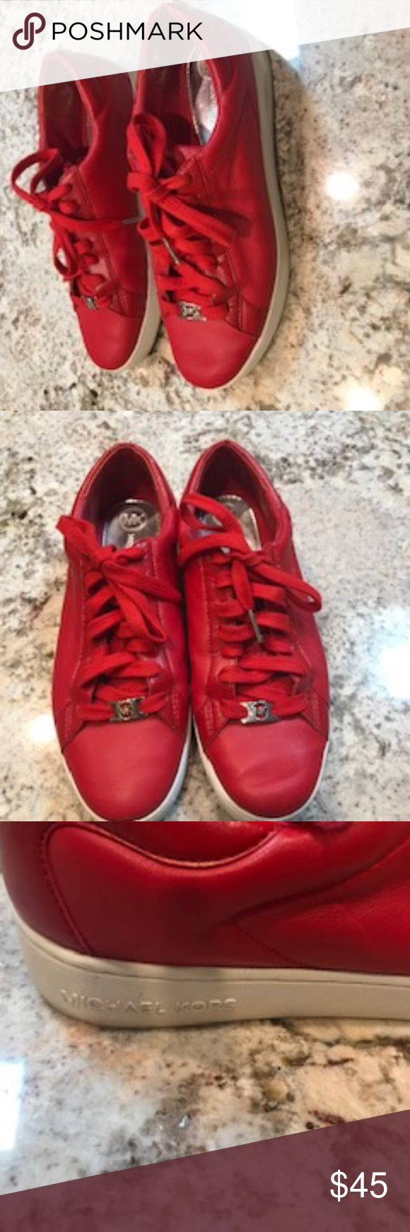 Michael Kors Red Tennis Shoes - George
