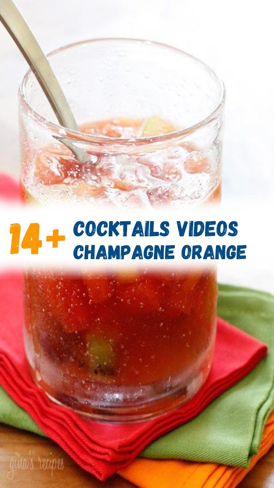 13 Cocktails Videos Champagne Orange In 2020 Cocktail Videos Cocktails Orange Cocktails