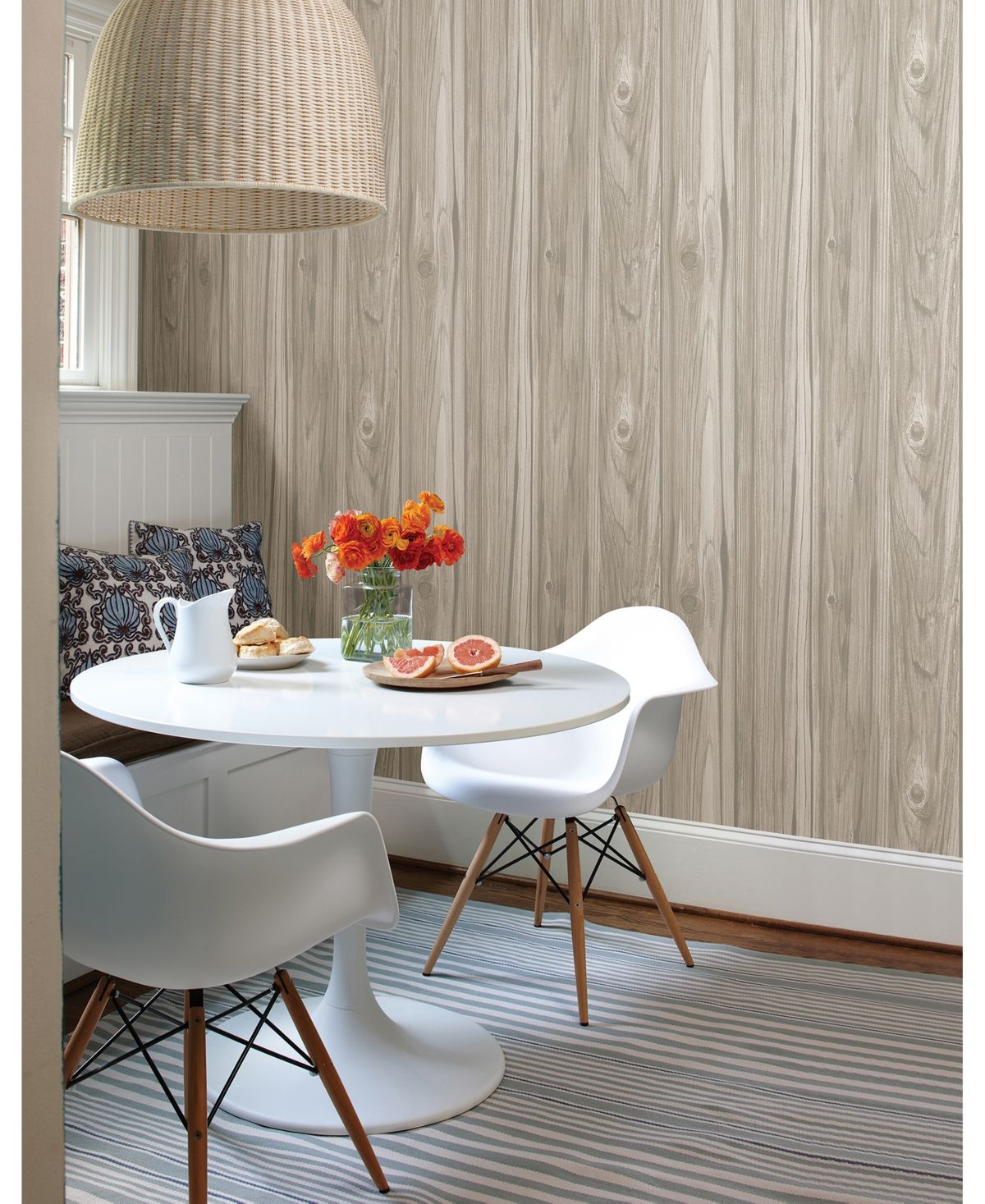 Brewster Home Fashions Paneling Wide Plank Wallpaper 396