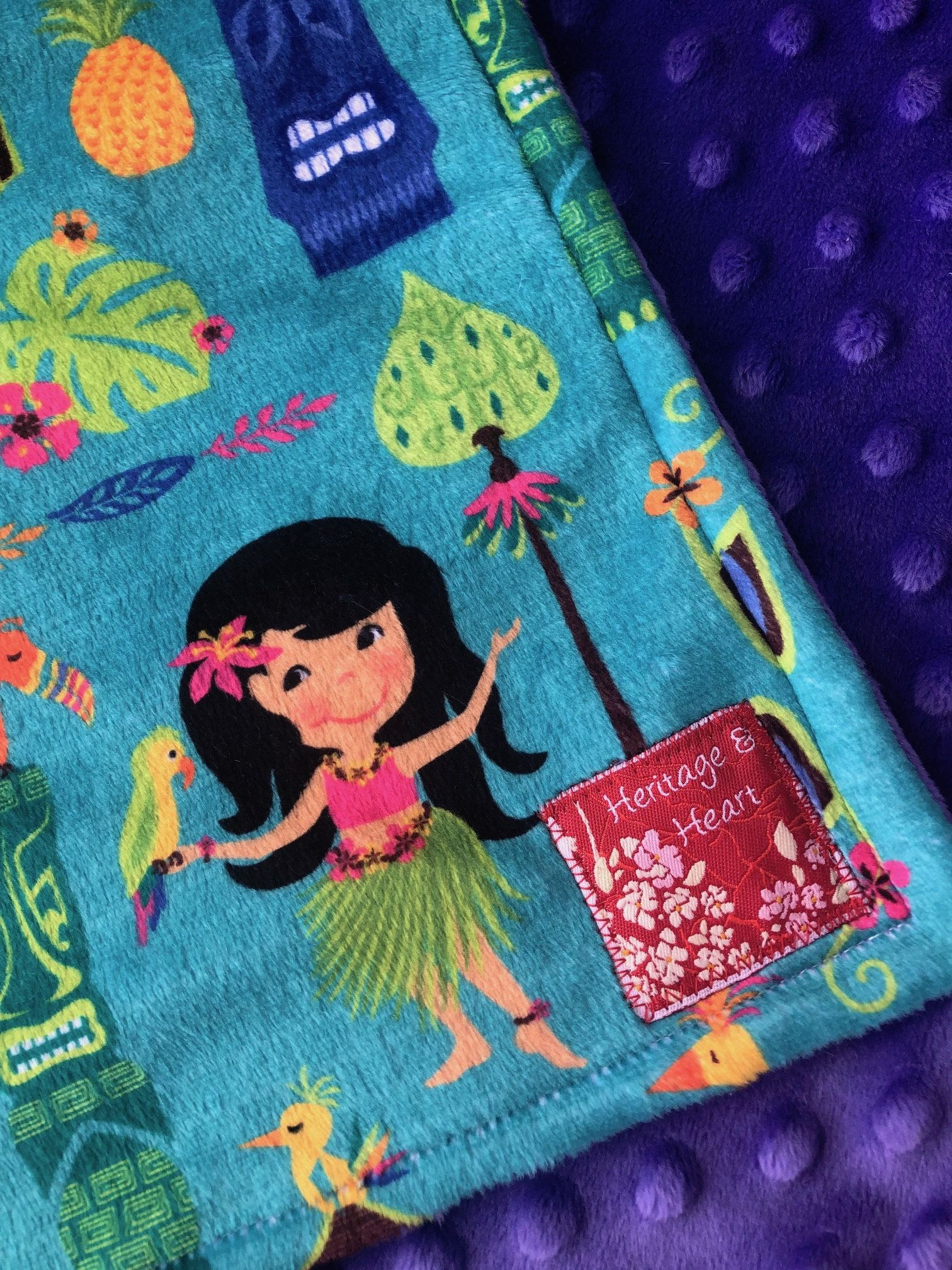 Hawaii baby blanket island girl toddler security blanky