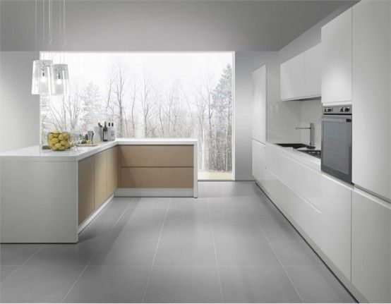 White Kitchen Grey Floor 104 modern custom luxury kitchen designs (photo gallery) | gray