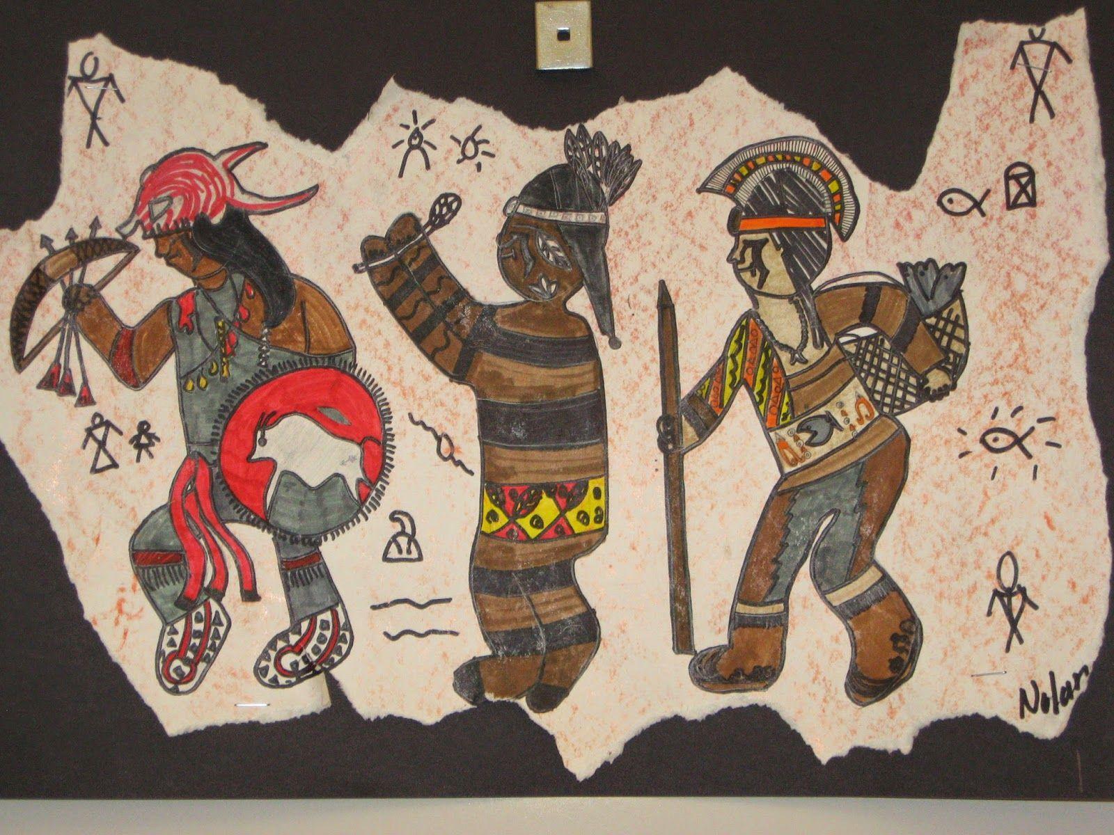 Jamestown Elementary Art Blog 5th Grade Native American Figure Drawing