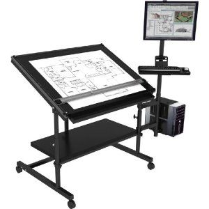 Merveilleux Computer Desk W/ Drafting Table   Excellent