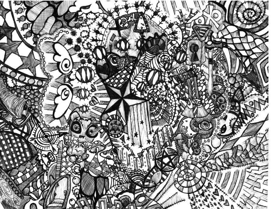 trippy designs black and white. crazy sketch trippy designs black and white