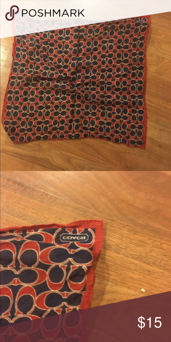 Coach scarf red white and blue Great white blue and white c design Coach scarf Coach Accessories Scarves & Wraps