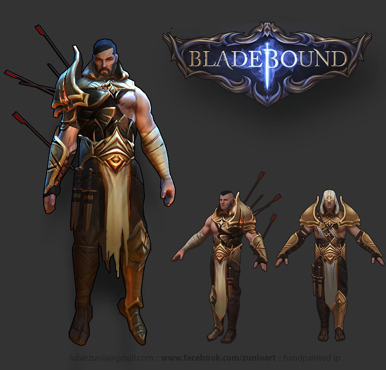 Bladebound Handpainted Light Armor www facebook com/zunioart