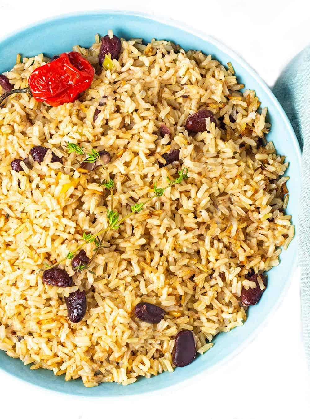 jamaican rice and peas recipe  vegan recipes healthy