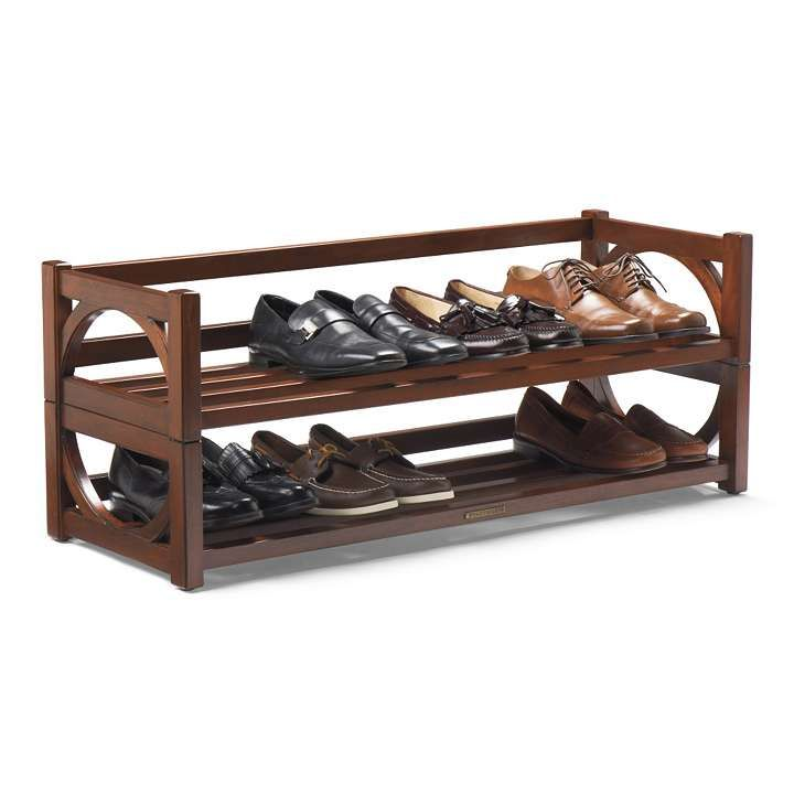 heritage shoe rack frontgate shoe