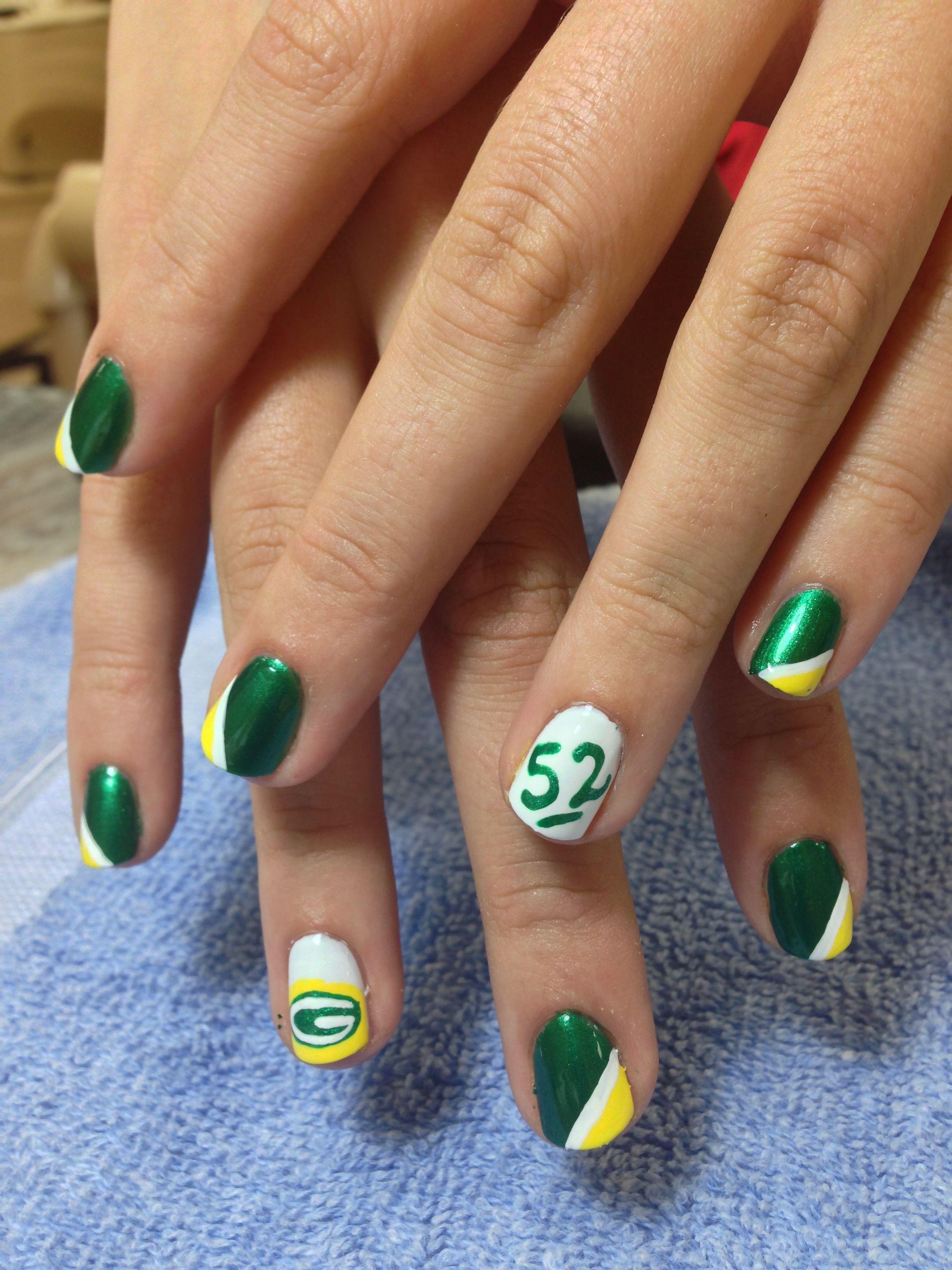 Packers Nails 1 Packer Nails Sports Nails Green Bay Packers Nail Art