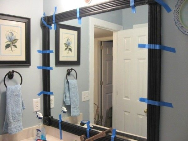 Homeowner Is Sick Of Her Drab Bathroom Mirror, So She Spends $64 To