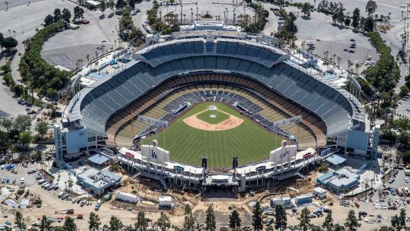 Los Angeles Mayor Says Large Gatherings Like Concerts And Sporting Events May Not Come Back Until 2021 In 2020 Sport Event Dodger Stadium In This Moment