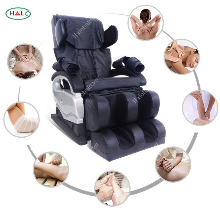 Kết quả hình ảnh cho Bán ghế massage toàn thân halo halo