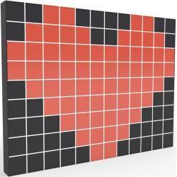 Photo of Wohnwand Weiß – Individuelle Designer-Regalwand: Türen in Rot – Hochwertige Materialien – 464 x 349
