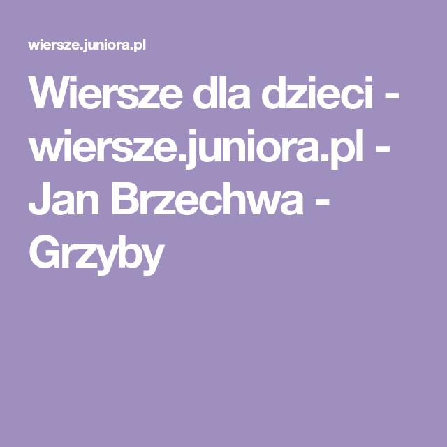 Wiersze Dla Dzieci Wierszejuniorapl Jan Brzechwa