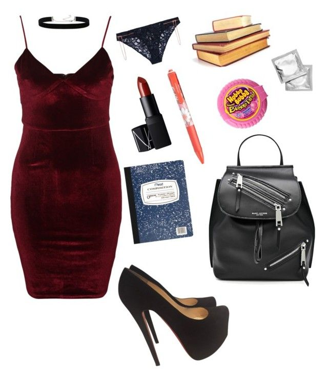 """Hot For Teacher"" by darthnerd25 on Polyvore featuring Glamorous, Agent Provocateur, 2028, Christian Louboutin, NARS Cosmetics, Mead, Vera Bradley and Marc Jacobs"