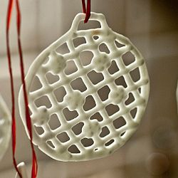 White Chocolate Tree Ornament Christmas Christmas Tree
