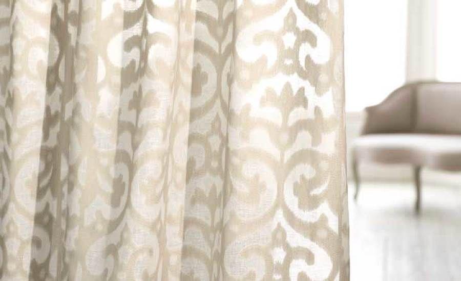 Abelia Natural Cirrus Wide Width Decorative Sheer Romo