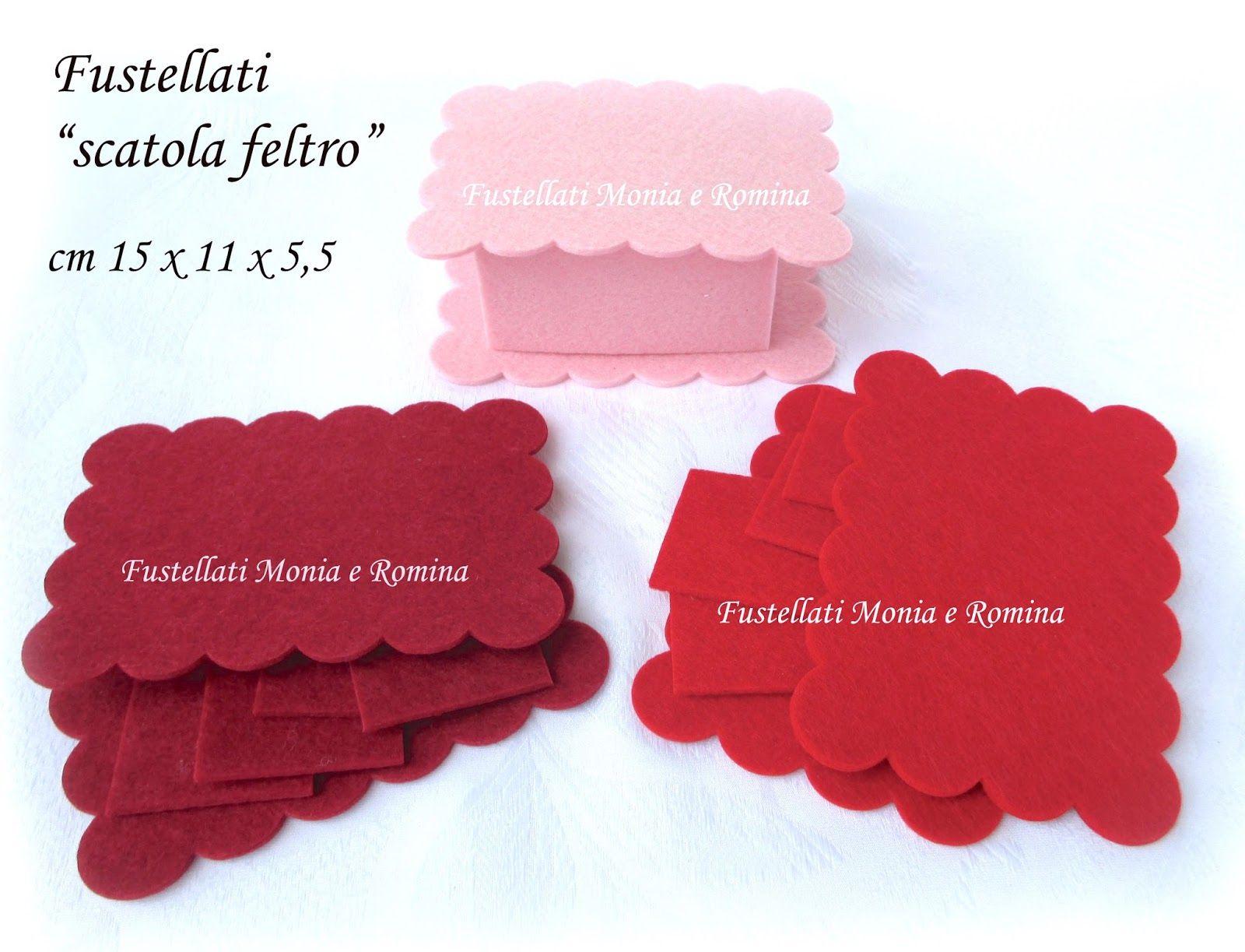 Popolare kit feltro scatola bauletto cofanetto scatolina bomboniera fai da  QO56