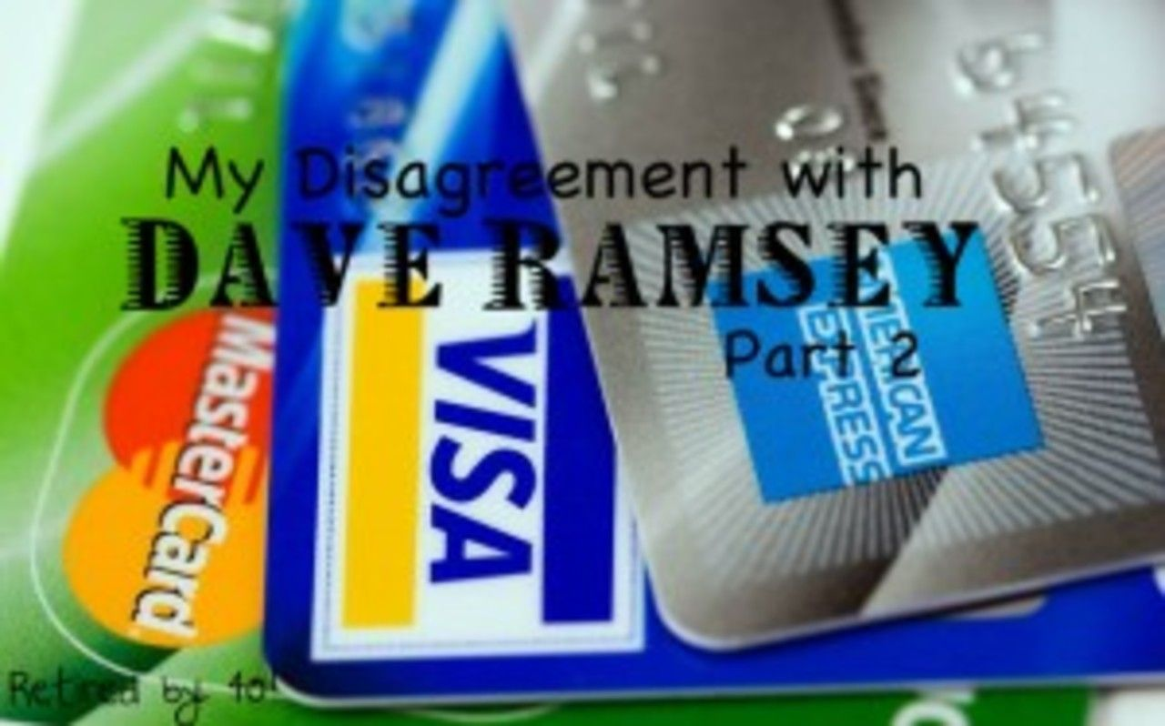 My Disagreement with Dave Ramsey - Part 2 | Dave ramsey, Frugal ...