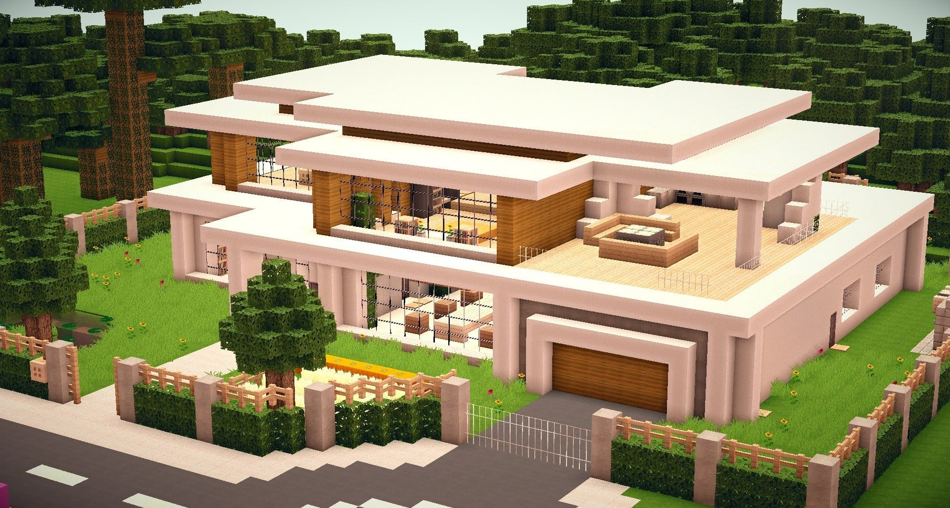 Minecraft haus modern 05 minecraft pinterest for Minecraft haus modern