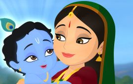Maa Yashoda With Little Bal Krishna Hd Art Cartoon Wallpaper Nice Hd Wallpapers Little Krishna Krishna Painting Bal Krishna