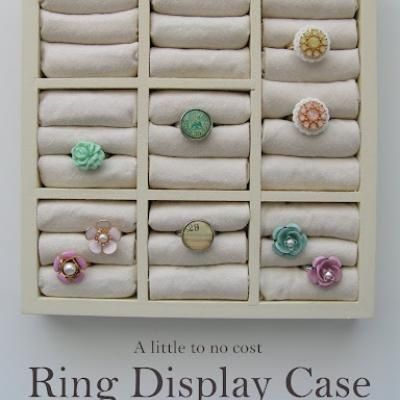 DIY Ring Storage Jewelry Storage and Display