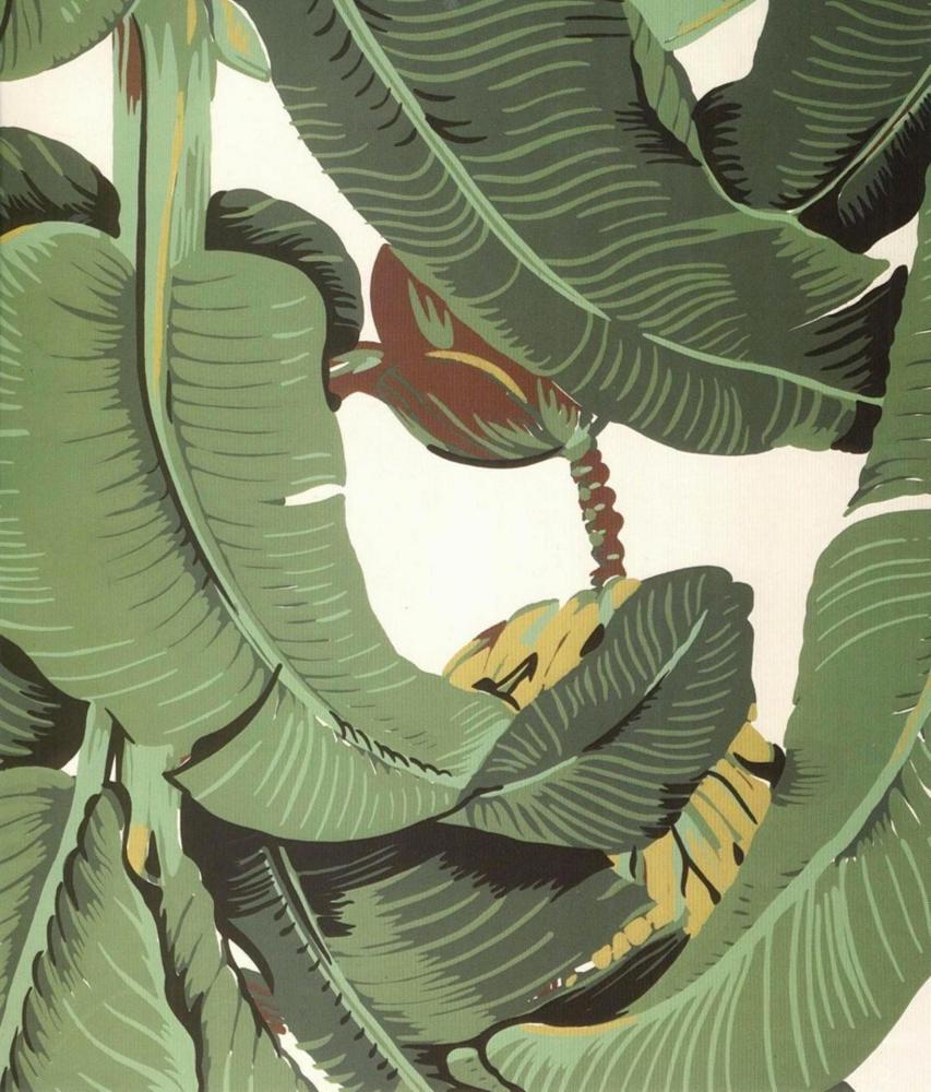 Banana Leaf Martinique Print Banana leaf, Iconic