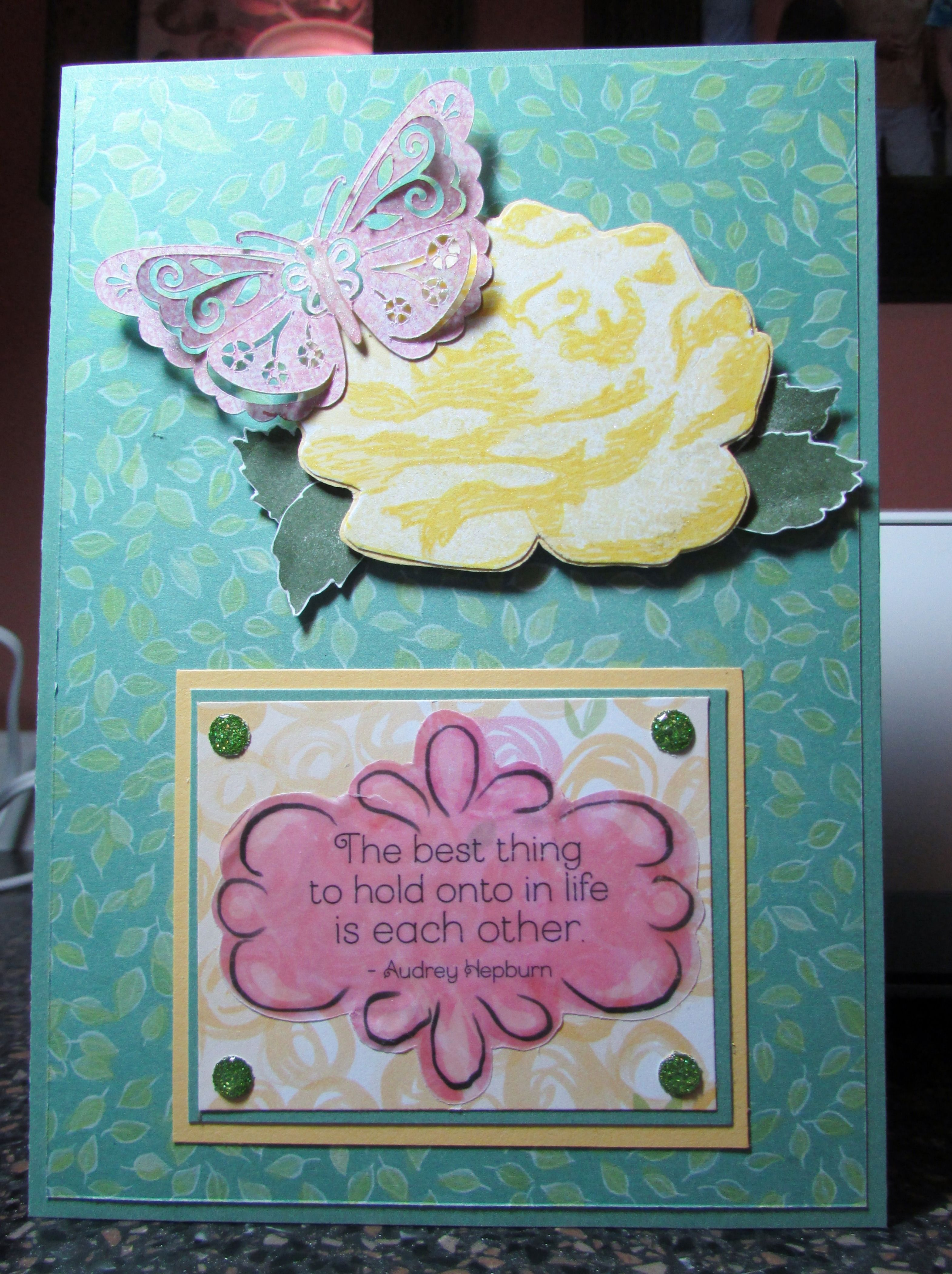An anniversary card for my daughter and soninlaw 24th