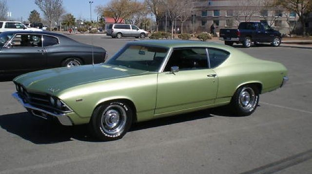 Example of Frost Green paint on a GM 1969 Chevrolet ...