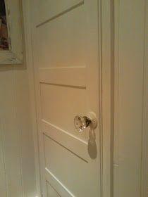 just paint it white: panelled door