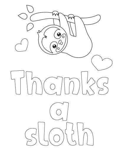 7+ Free Printable Thank You Coloring Pages   Coloring ...