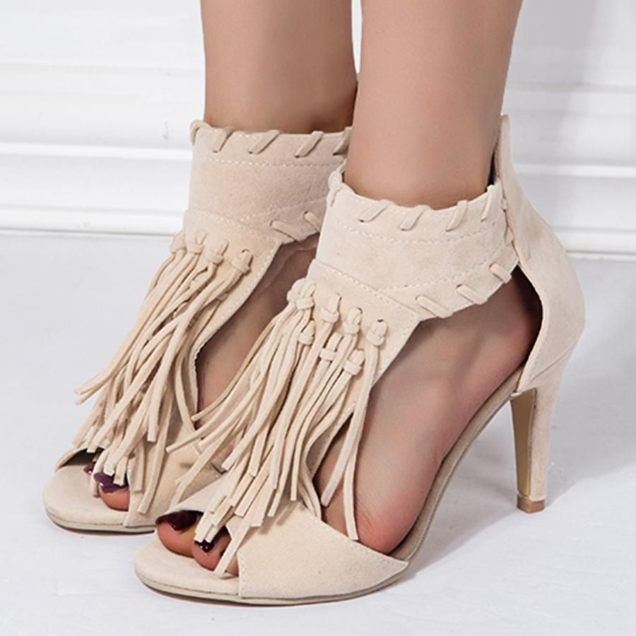 97f07bf41fc6  EnvyWe  BerryLook -  berrylook Plain Stiletto High Heeled Velvet Peep Toe  Date Outdoor Platform Sandals - EnvyWe.com