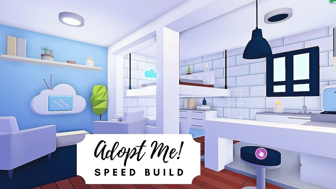 Tiny Modern Aesthetic House Roof Terrace Speed Build Roblox Adopt Me Youtube Sims House Design Cute Room Ideas House Roof