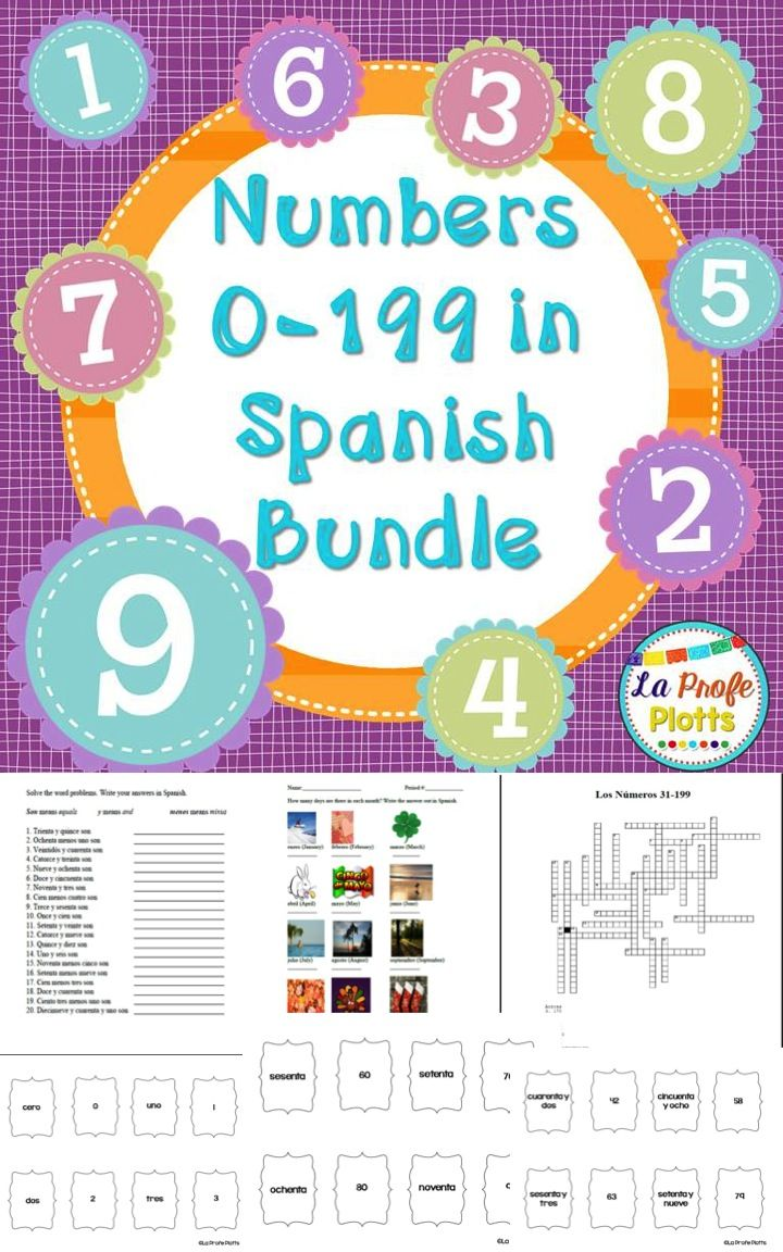 Numbers In Spanish Bundle Games Task Cards And Practice Activities Teaching Spanish Spanish Numbers Spanish Students