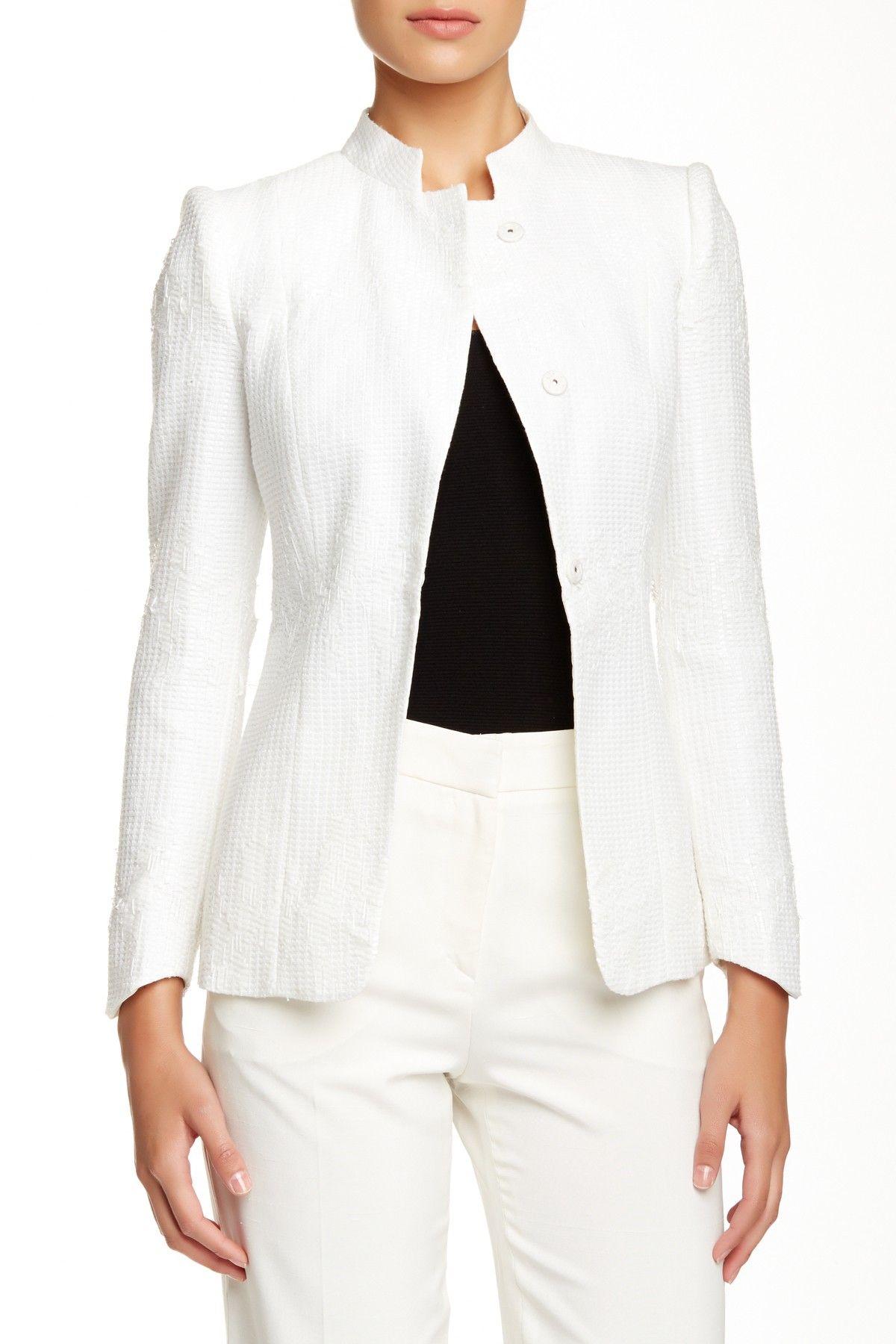 Chic Giorgio Armani Textured Single Breasted Jacket