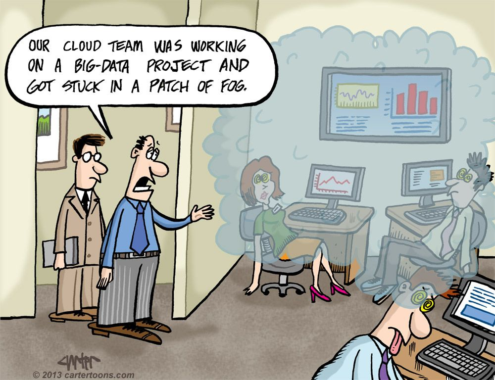 Humor Cartoon Big Data Analysis In The Cloud Big Data