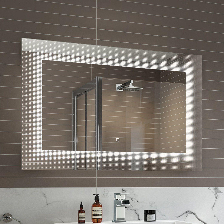 900 X 600 Mm Modern Illuminated Led Bathroom Mirror Light Sensor Demister Ml7002 Ibathuk Amazon Bathroom Mirror Lights Led Mirror Bathroom Bathroom Mirror
