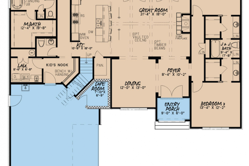 House Plans With Safe Rooms Nelson Design Group Safe Room House Plans Safe Room Doors