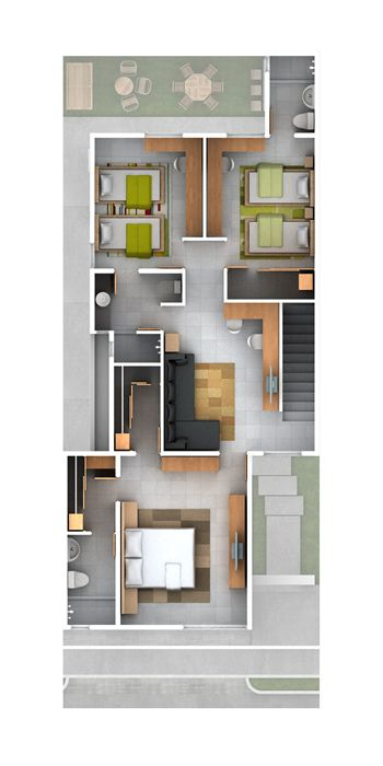 Planos de casas y plantas arquitect nicas de distribuci n for Planos de casas para construir en mexico