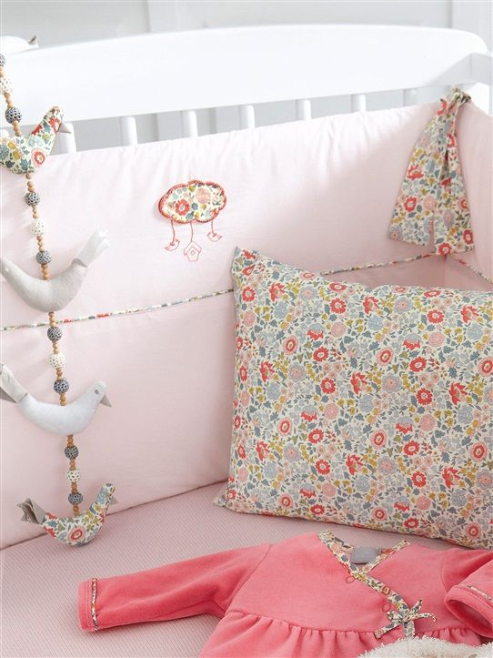 GUIRLANDE OISEAUX LIBERTY® LIBERTY FLEURI MULTICOLORE from French