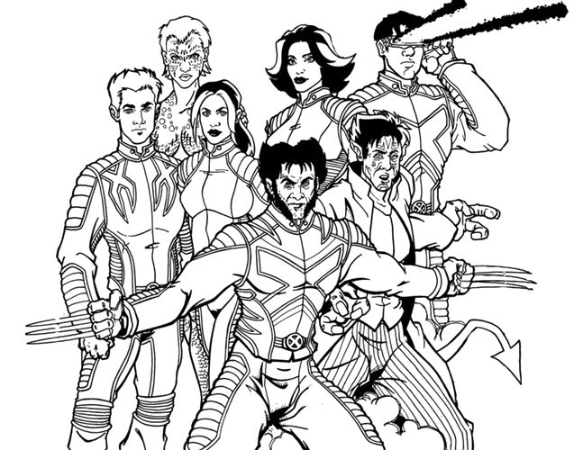 Team Xmen Coloring Pages Kidsdrawing Rhpinterest: Free Coloring Pages X Men At Baymontmadison.com