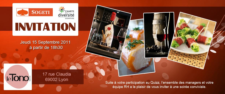 invitation soirée corporate