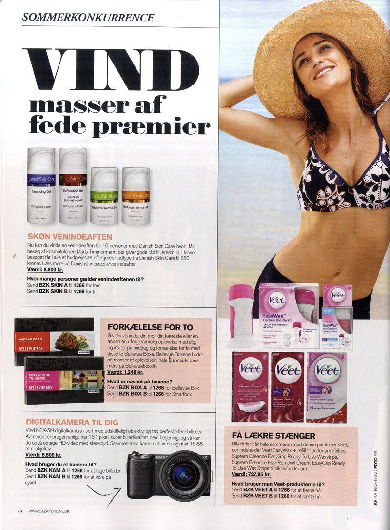 Juni 2012 - Bazar anbefaler Danish Skin Care og udlodder produkter til deres læsere