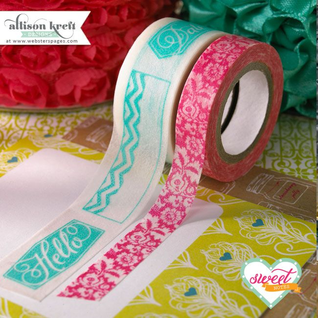brand new Sweet Notes washi tape from @Webster's Pages & Allison Kreft Designs #CHA2013