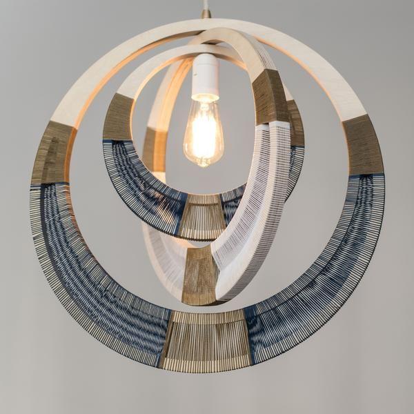 Photo of Woven Necklace Pendant Lighting – Cobalt
