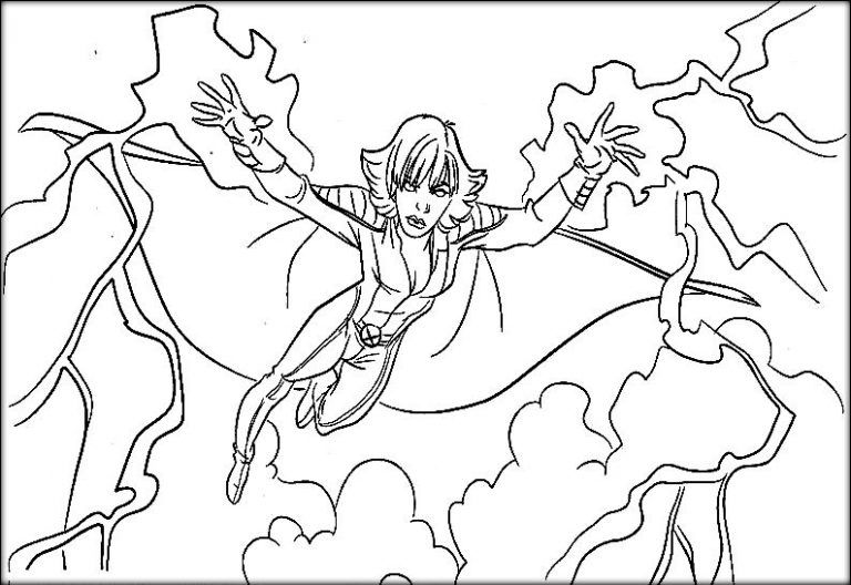X Men Coloring Pages Superhero Coloring