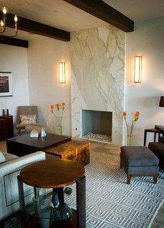 Fireplace Surround A Slab Of Marble Granite Or Another