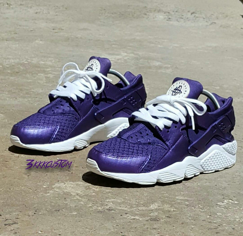 custome purple nike huaraches shoes pinterest nike. Black Bedroom Furniture Sets. Home Design Ideas