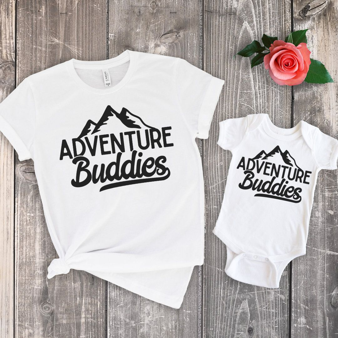 Adventure buddies, Mommy and me outfits,Mommy and Me,Mommy and me shirts girl,Aunt shirt,Mothers Day gift,New dad shirt,Uncle shirt