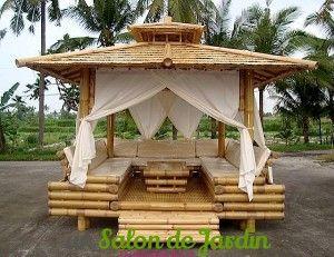 Salon de jardin pagode en bambou | CHIC OUTSIDE, POOL AND GARDENS ...